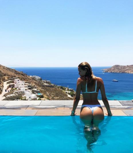 Sandra Kubicka wypoczywa na greckiej wyspie