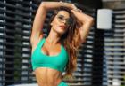 Alejandra Ghersi pręży ciało w zielonym bikini