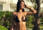 Helga Lovekaty w skromnym czarnym bikini
