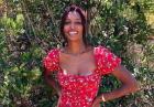 Jasmine Tookes promienieje w kwiecistej sukience