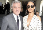 Rihanna wylewającym biustem przyćmiła kreacje