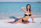 Silvia Caruso w muszelkowym bikini