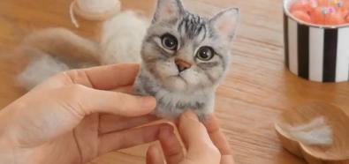Kotek z filcu