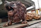 Drewniany lew