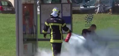 Remi Gaillard jako strażak