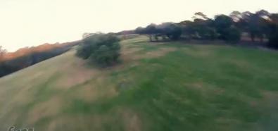 Wyścigowy dron w akcji