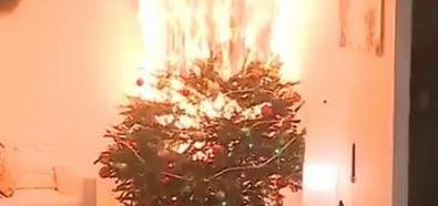 Choinka w płomieniach