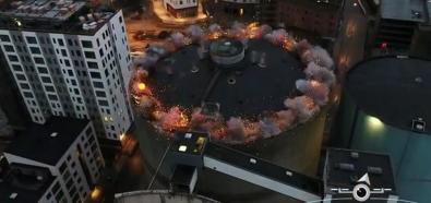 Wyburzanie dachu silosu