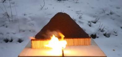 Wulkan z zapałek