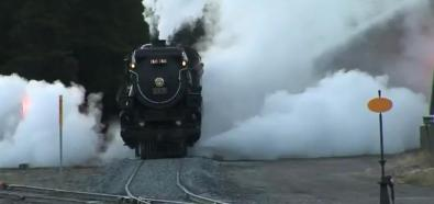 Poranne odpalanie lokomotywy parowej