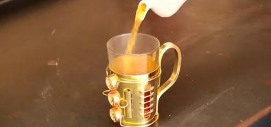 Steampunkowy koszyk na szklankę