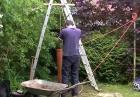 Wiercenie studni w ogrodzie