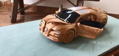 Bugatti Chiron z drewna