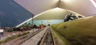 Makieta kolejowa na poddaszu