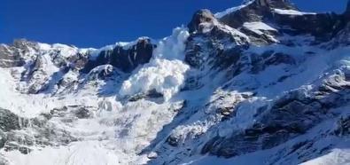 Lawina w Patagonii