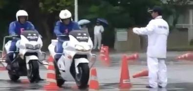 Japońscy policjanci na motorach