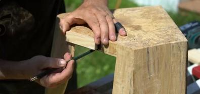 Drewniany podnóżek