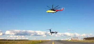 Mi-26 unosi samolot