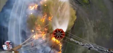 Gaszenie pożaru śmigłowcem
