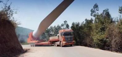 Ciężarówki do transportu wiatraków