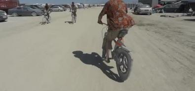 Rower z trójkątnymi kołami