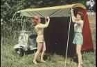 Skuter i namiot w jednym