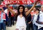 Natalia Siwiec na meczu Polaka vs Niemcy