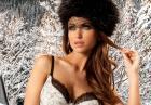 Monika Pietrasińska  - seksowna modelka w zimowej kolekcji bielizny Alles