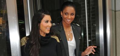 Ciara i Kim Kardashian po urodzinowym lunchu w Tribeca