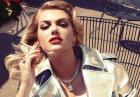 Kate Upton - modelka o dużym biuście w lateksie w Vogue