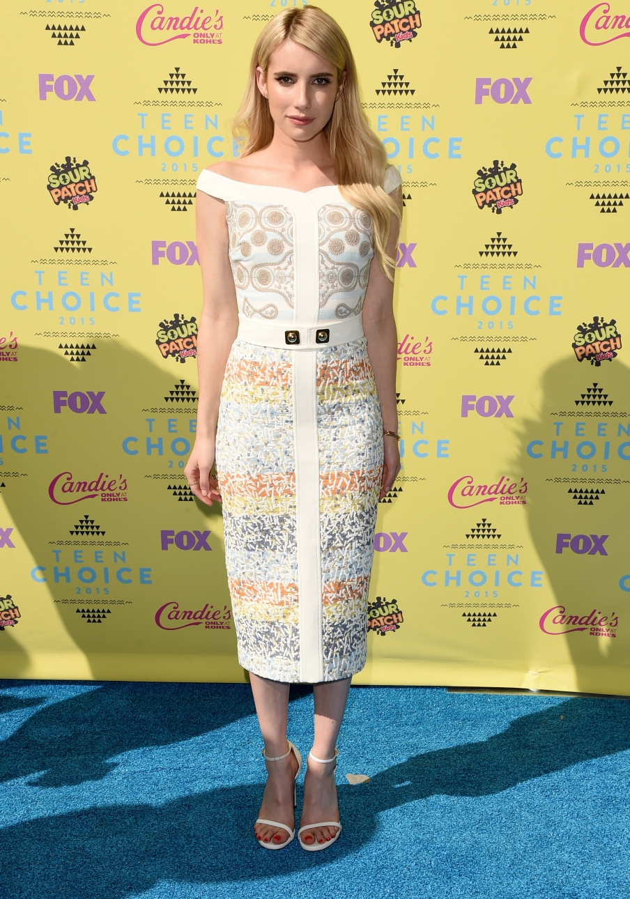 Charlotte McKinney, Britney Spears, Emma Roberts i inne gwiazdy na Teen Choice Awards w Los Angeles