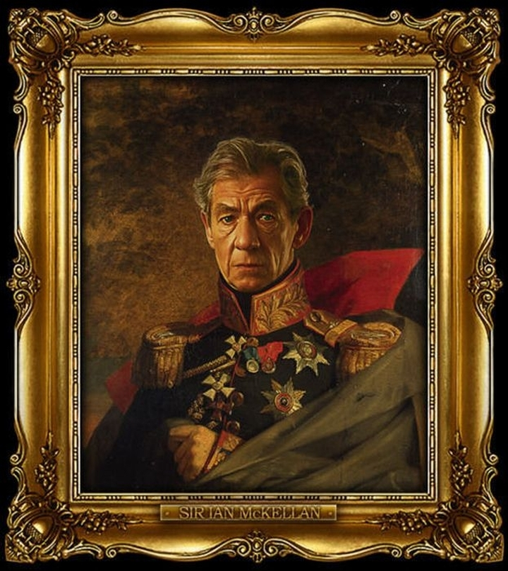 Sir ian mckellan celebrities wearing the uniform of russian generals