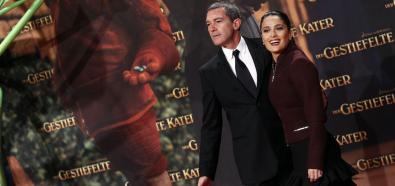 Antonio Banderas I Salma Hayek Na Premierze Filmu Kot W Butach W