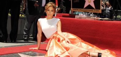 Jennifer Lopez ze swoją gwiazdą w Alei Sław
