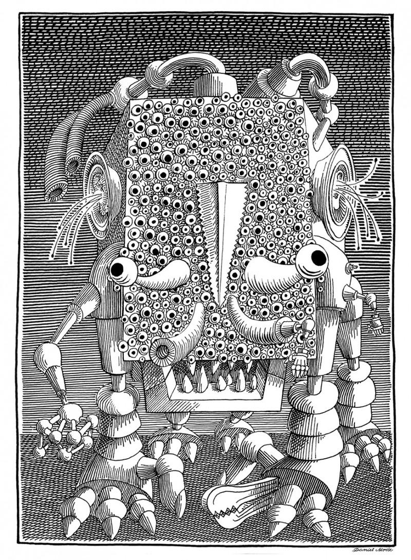 Daniel Mróz - kultowy ilustrator, spec od robotów