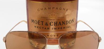 Moet & Chandon Rose - szampan i okulary przeciwsłoneczne