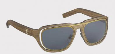 Drewniane okulary przeciwsłoneczne Louis Vuitton