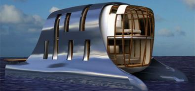 Mieszkania przyszłości - domy - łodzie - woda