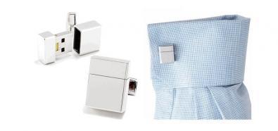 Spinki do mankietów z ukrytym USB