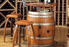Vintage Oak Barrel - rustykalny zestaw barowy