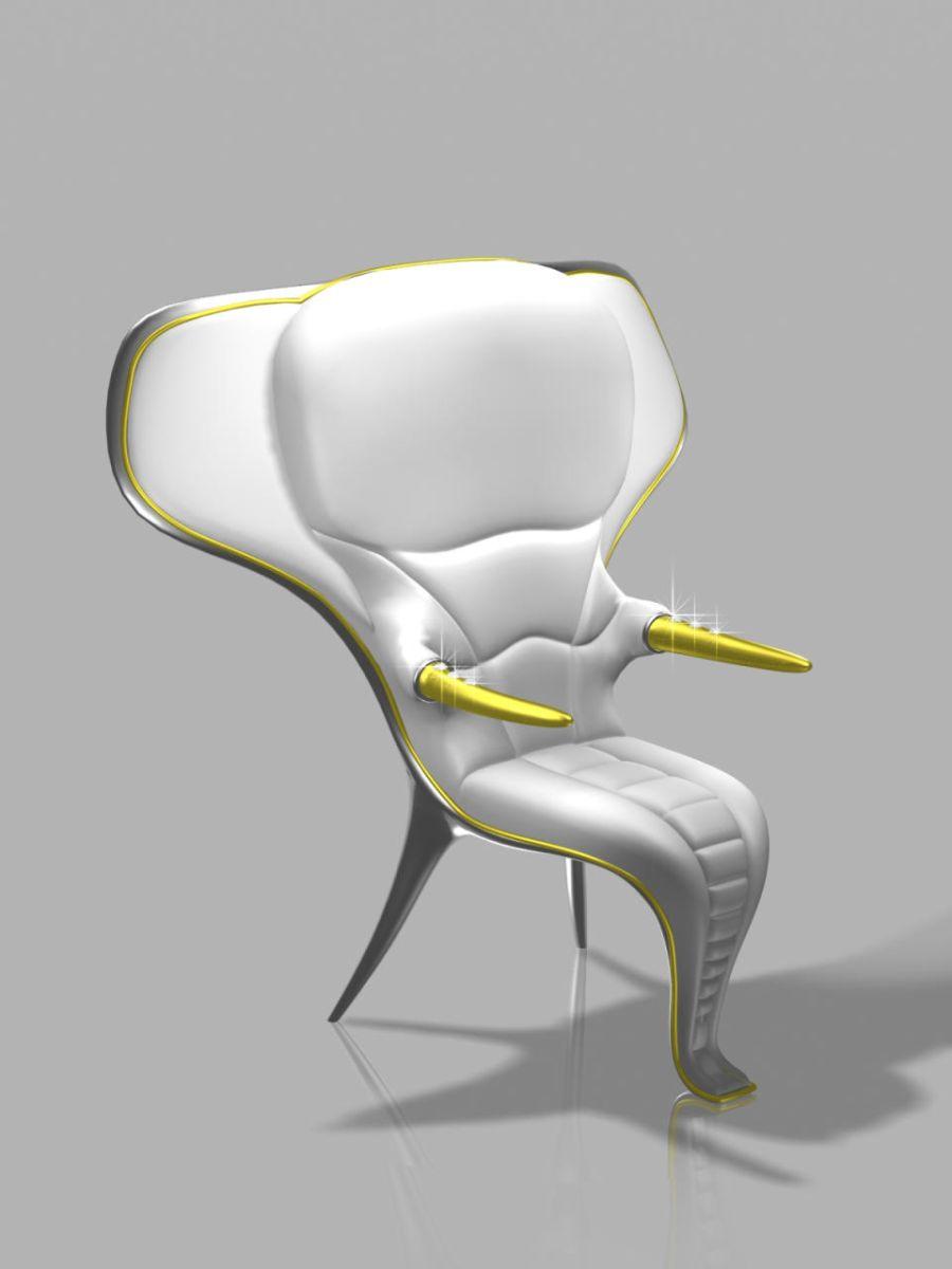 Odjechane krzesła wzorowane na zwierzętach