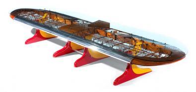Odjechane stoły z części samolotów