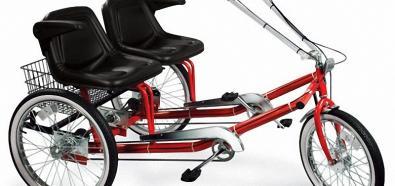 Trójkołowy rower ze wspomaganiem elektrycznym