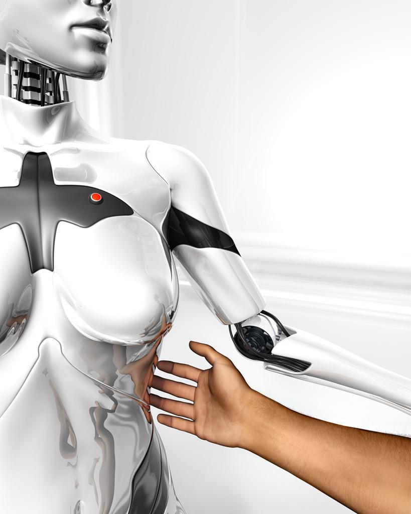 Секс мужчины с роботом могу