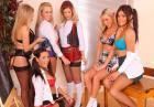 6 seksownych uczennic w erotycznej bieliźnie