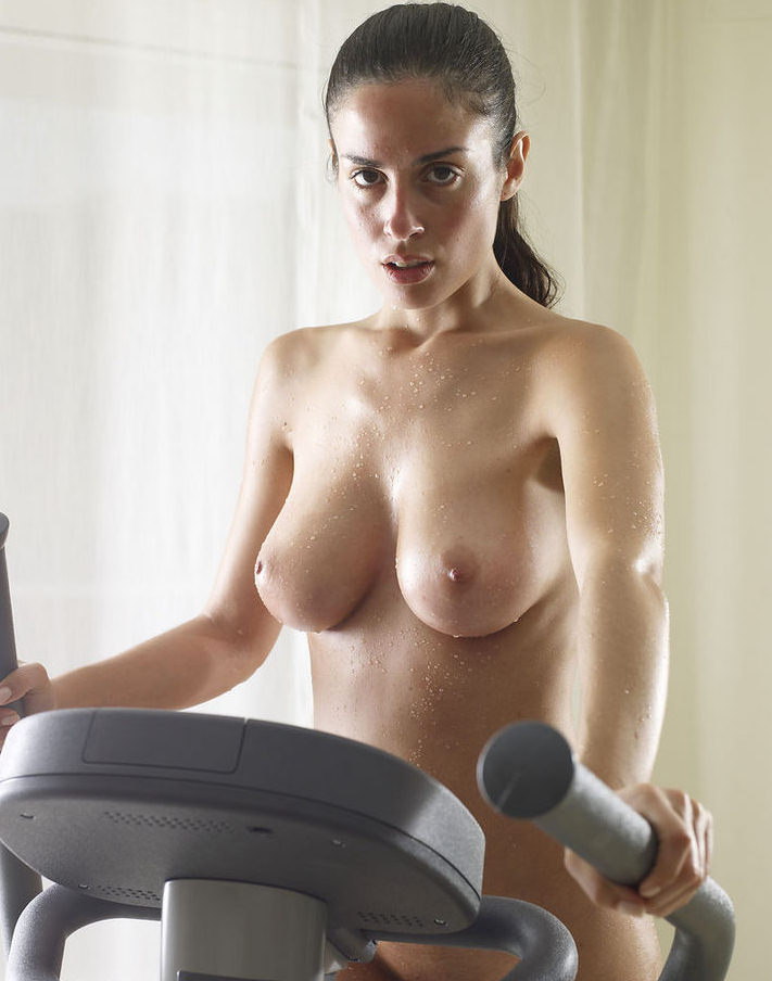 Black Ebony Sexy Sporty Girl Undressing On Treadmill Drunkenstepfather 1