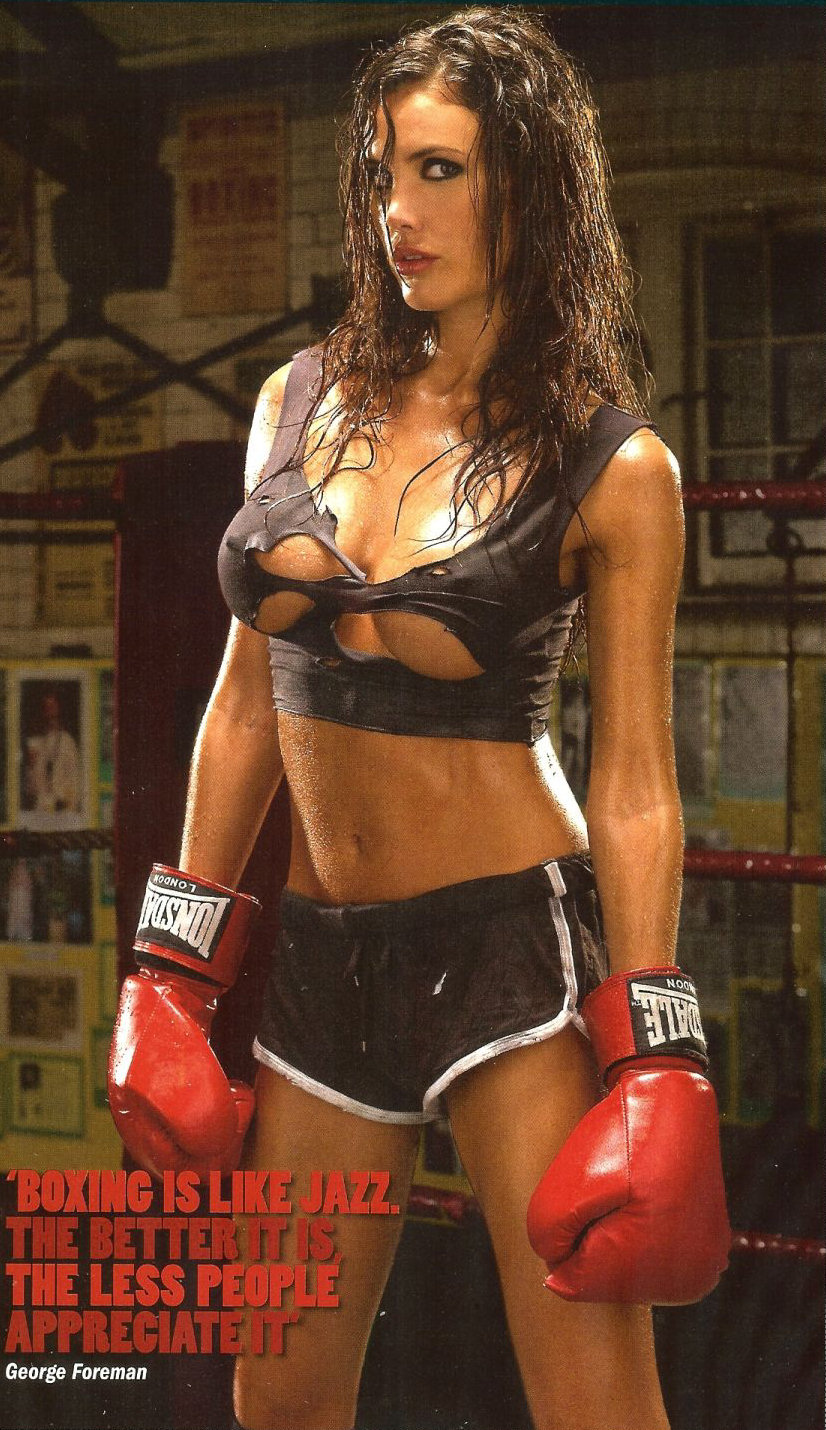 Эротика девушки в боксе 16 фотография