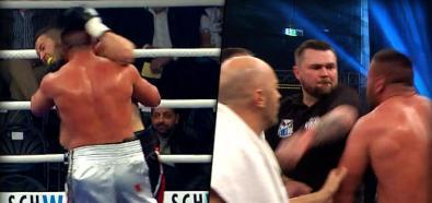 Trener znokautował boksera za próbę odgryzienia ucha