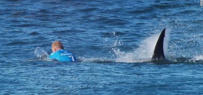Mick Fanning zaatakowany przez rekina