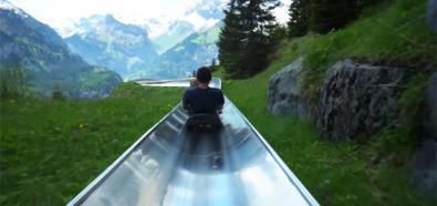 Ogromna zjeżdżalnia alpejska w Szwajcarii